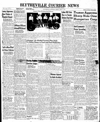 The Courier News from Blytheville, Arkansas on June 6, 1947 · Page 1