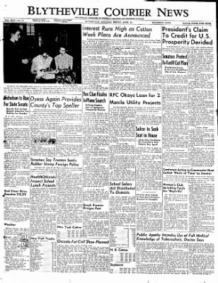 The Courier News from Blytheville, Arkansas on April 14, 1950 · Page 1