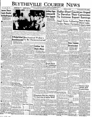 The Courier News from Blytheville, Arkansas on September 13, 1949 · Page 1