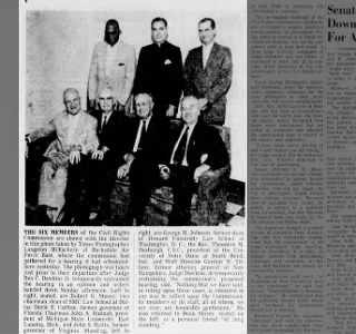 THE SIX MEMBERS of the Civil Rights Comission are shown here... George M. Johnson