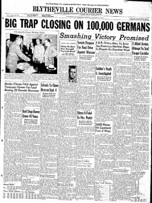 The Courier News from Blytheville, Arkansas on August 14, 1944 · Page 1