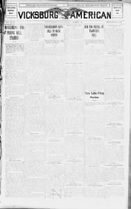 Sample The Vicksburg American front page