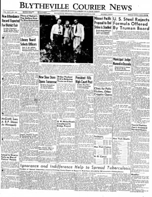 The Courier News from Blytheville, Arkansas on September 15, 1949 · Page 1