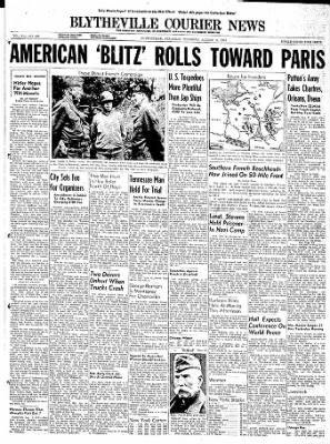 The Courier News from Blytheville, Arkansas on August 17, 1944 · Page 1