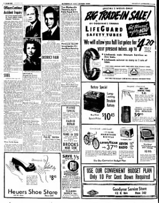 The Courier News from Blytheville, Arkansas on September 15, 1949 · Page 6