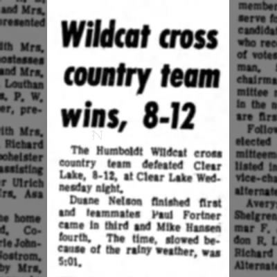 September 26, 1970 Clear Lake Cross Country Junior Year - MfiMcaf cross county feam wins, 8-72 The...