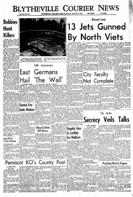 The Courier News from Blytheville, Arkansas on August 13, 1966 · Page 1