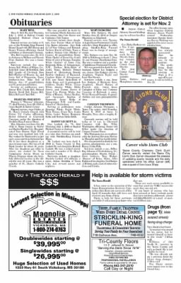 The Yazoo Herald from Yazoo City, Mississippi on July 3, 2010 · Page A02