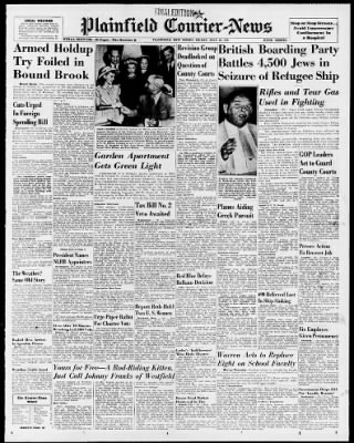 The Courier-News from Bridgewater, New Jersey on July 18, 1947 · Page 1
