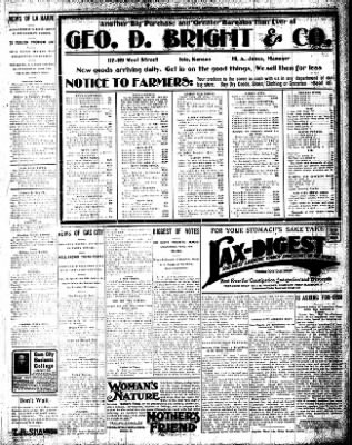 Iola Daily Register And Evening News from Iola, Kansas on September 10, 1908 · Page 3
