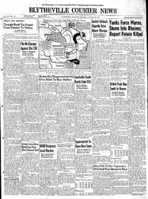 The Courier News from Blytheville, Arkansas on August 26, 1944 · Page 1