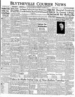 The Courier News from Blytheville, Arkansas on September 21, 1949 · Page 1