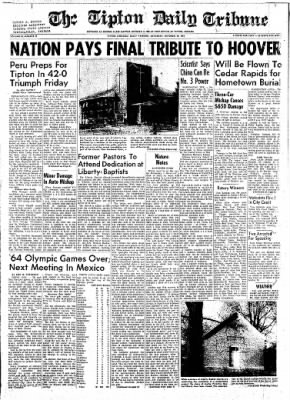 The Tipton Daily Tribune from Tipton, Indiana on October 24, 1964 · Page 1