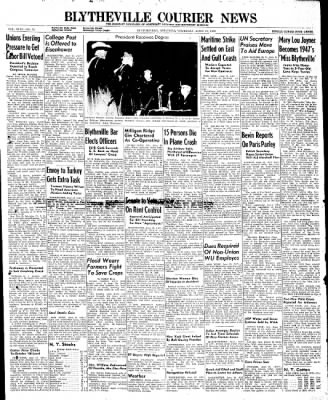 The Courier News from Blytheville, Arkansas on June 19, 1947 · Page 1