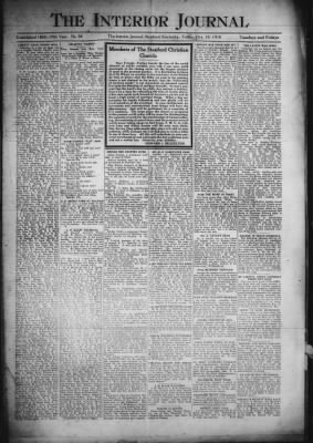 Interior Journal from Stanford, Kentucky on October 18, 1918 · Page 1