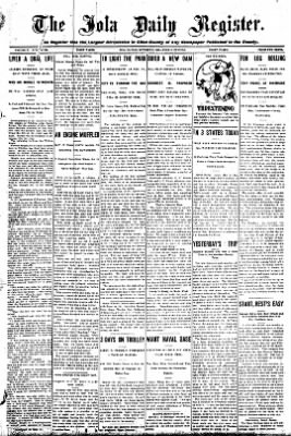 Iola Daily Register And Evening News from Iola, Kansas on October 2, 1908 · Page 1