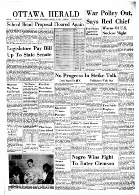 The Ottawa Herald from Ottawa, Kansas on January 16, 1963 · Page 1