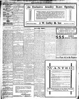 Iola Daily Register And Evening News from Iola, Kansas on September 23, 1907 · Page 4
