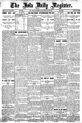 Iola Daily Register And Evening News from Iola, Kansas on September 25, 1907 · Page 1