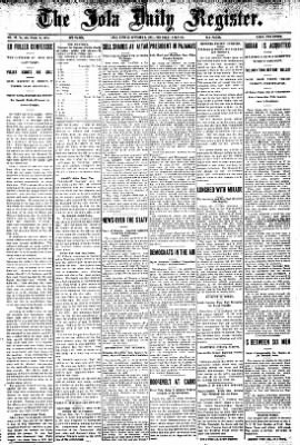 Iola Daily Register And Evening News from Iola, Kansas on October 3, 1907 · Page 1