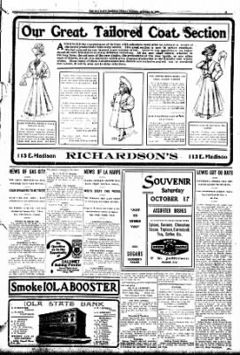 Iola Daily Register And Evening News from Iola, Kansas on October 16, 1908 · Page 3