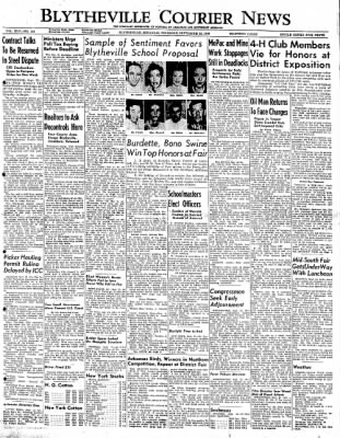 The Courier News from Blytheville, Arkansas on September 22, 1949 · Page 1