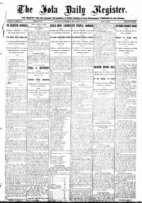 Iola Daily Register And Evening News from Iola, Kansas on October 19, 1908 · Page 1