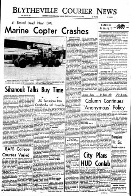 The Courier News from Blytheville, Arkansas on January 13, 1968 · Page 1