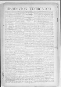 Sample Herington Vindicator front page