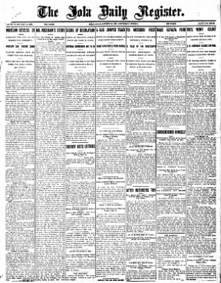 Iola Daily Register And Evening News from Iola, Kansas on October 16, 1907 · Page 1