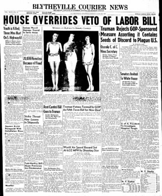 The Courier News from Blytheville, Arkansas on June 20, 1947 · Page 1
