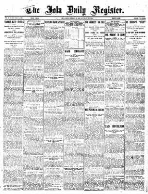 Iola Daily Register And Evening News from Iola, Kansas on October 19, 1907 · Page 1