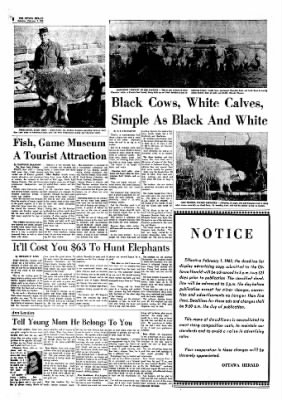 The Ottawa Herald from Ottawa, Kansas on February 2, 1963 · Page 8