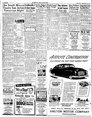 The Courier News from Blytheville, Arkansas on September 22, 1949 · Page 6