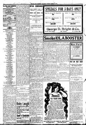 Iola Daily Register And Evening News from Iola, Kansas on October 28, 1908 · Page 4