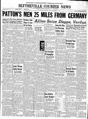 The Courier News from Blytheville, Arkansas on September 1, 1944 · Page 1