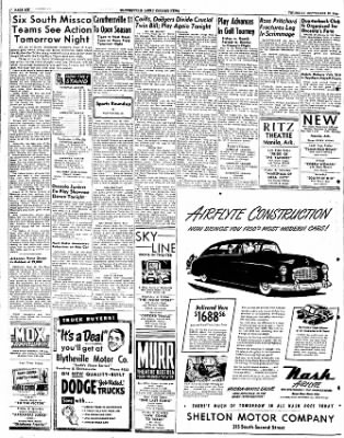 The Courier News from Blytheville, Arkansas on September 22, 1949 · Page 8