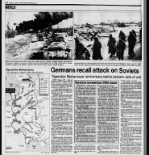 Retrospective on Operation Barbarossa from German & Russian perspectives on 50th anniversary