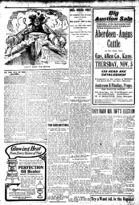 Iola Daily Register And Evening News from Iola, Kansas on November 2, 1908 · Page 6