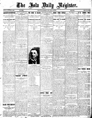 Iola Daily Register And Evening News from Iola, Kansas on October 28, 1907 · Page 1