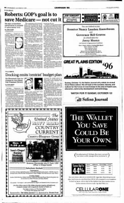 The Salina Journal from Salina, Kansas on October 9, 1996 · Page 4