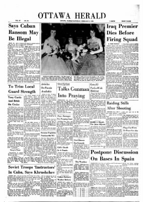 The Ottawa Herald from Ottawa, Kansas on February 9, 1963 · Page 1