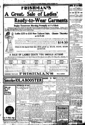 Iola Daily Register And Evening News from Iola, Kansas on November 4, 1908 · Page 3
