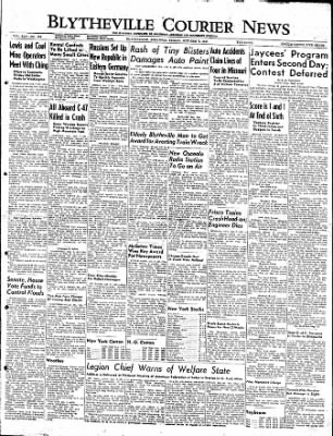 The Courier News from Blytheville, Arkansas on October 7, 1949 · Page 1