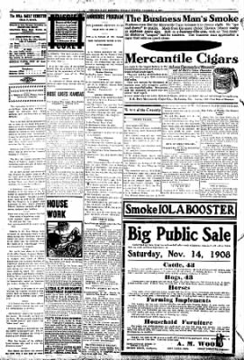 Iola Daily Register And Evening News from Iola, Kansas on November 10, 1908 · Page 4