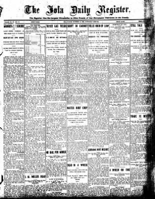 Iola Daily Register And Evening News from Iola, Kansas on November 11, 1908 · Page 1