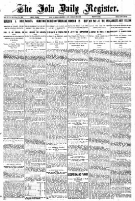 Iola Daily Register And Evening News from Iola, Kansas on November 8, 1907 · Page 1