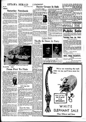 The Ottawa Herald from Ottawa, Kansas on February 23, 1963 · Page 4