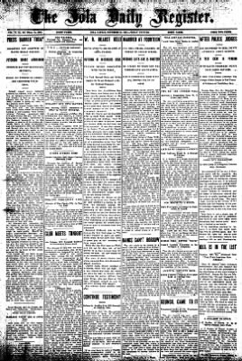 Iola Daily Register And Evening News from Iola, Kansas on November 22, 1907 · Page 1