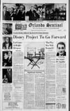 Walt Disney's death won't stop theme park plans in Orlando